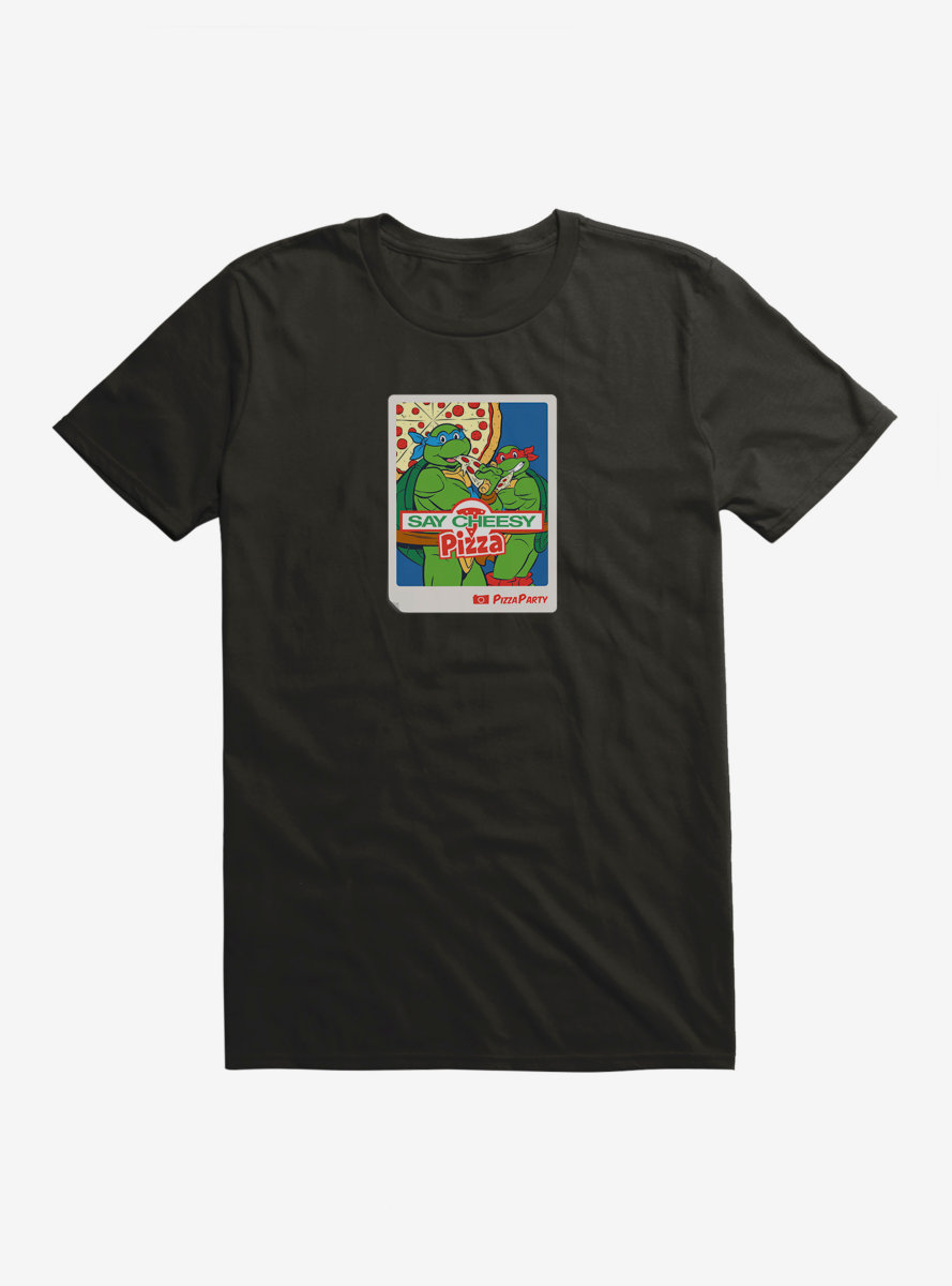 Teenage Mutant Ninja Turtles Pizza Party Photo T-Shirt