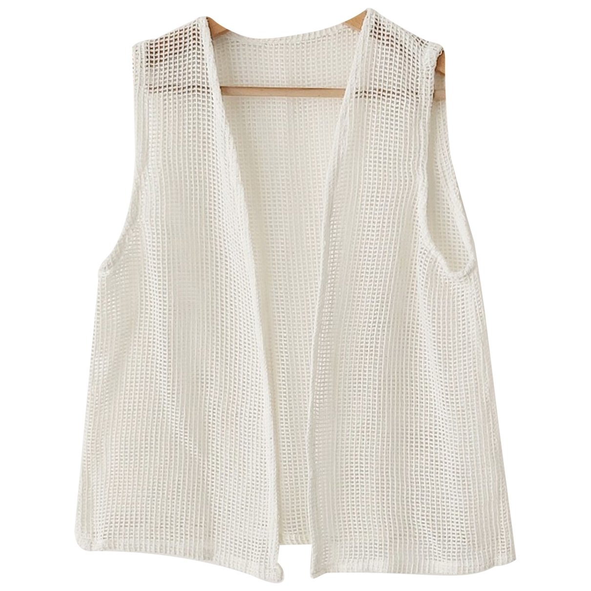 Non Sign?? / Unsigned \N White Cotton Knitwear for Women One Size International