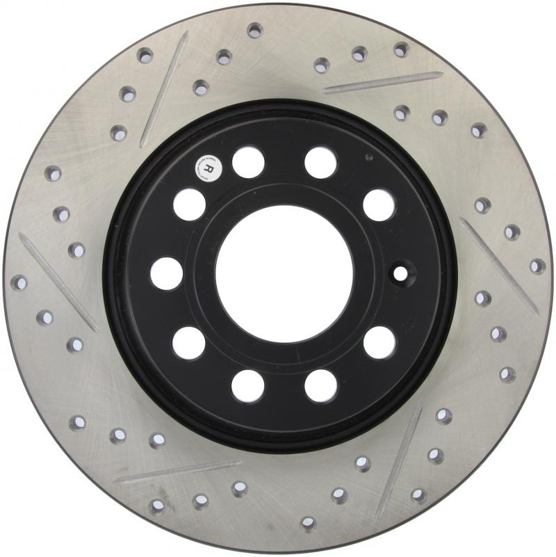 Slotted Front Stoptech 937.33033 Street Axle Pack