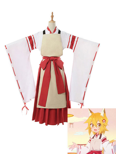 Milanoo The Helpful Fox Senko San Cosplay Senko Kimono Cosplay Costume