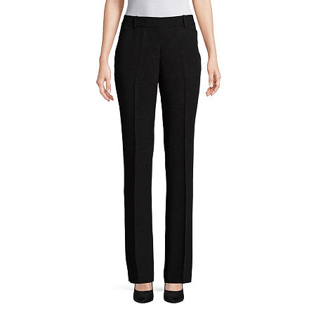 Worthington Womens Straight Leg Perfect Trouser, 10 Short , Black