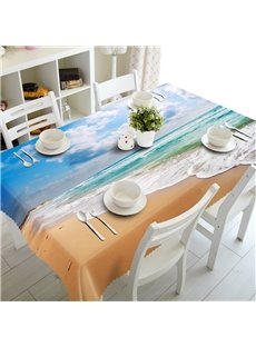 3D Elegant Beach Scenery Printed Amazing Sea View Home and Party Table Runner Cover
