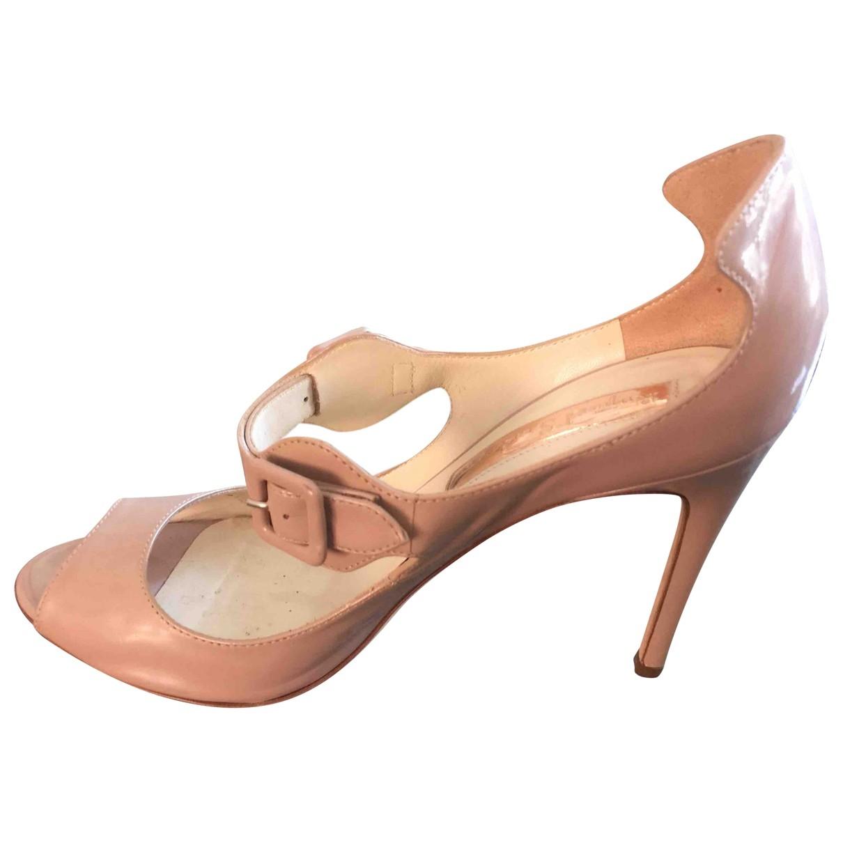 Rupert Sanderson \N Beige Patent leather Sandals for Women 38 EU