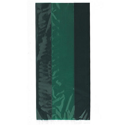 Forest Green Cellophane Bags, 11