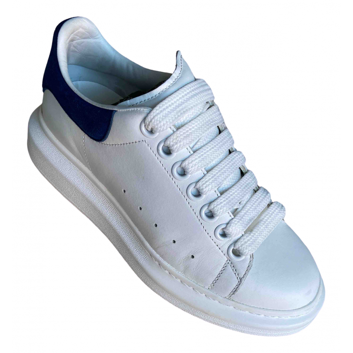 Alexander Mcqueen Oversize White Leather Trainers for Women 35.5 EU