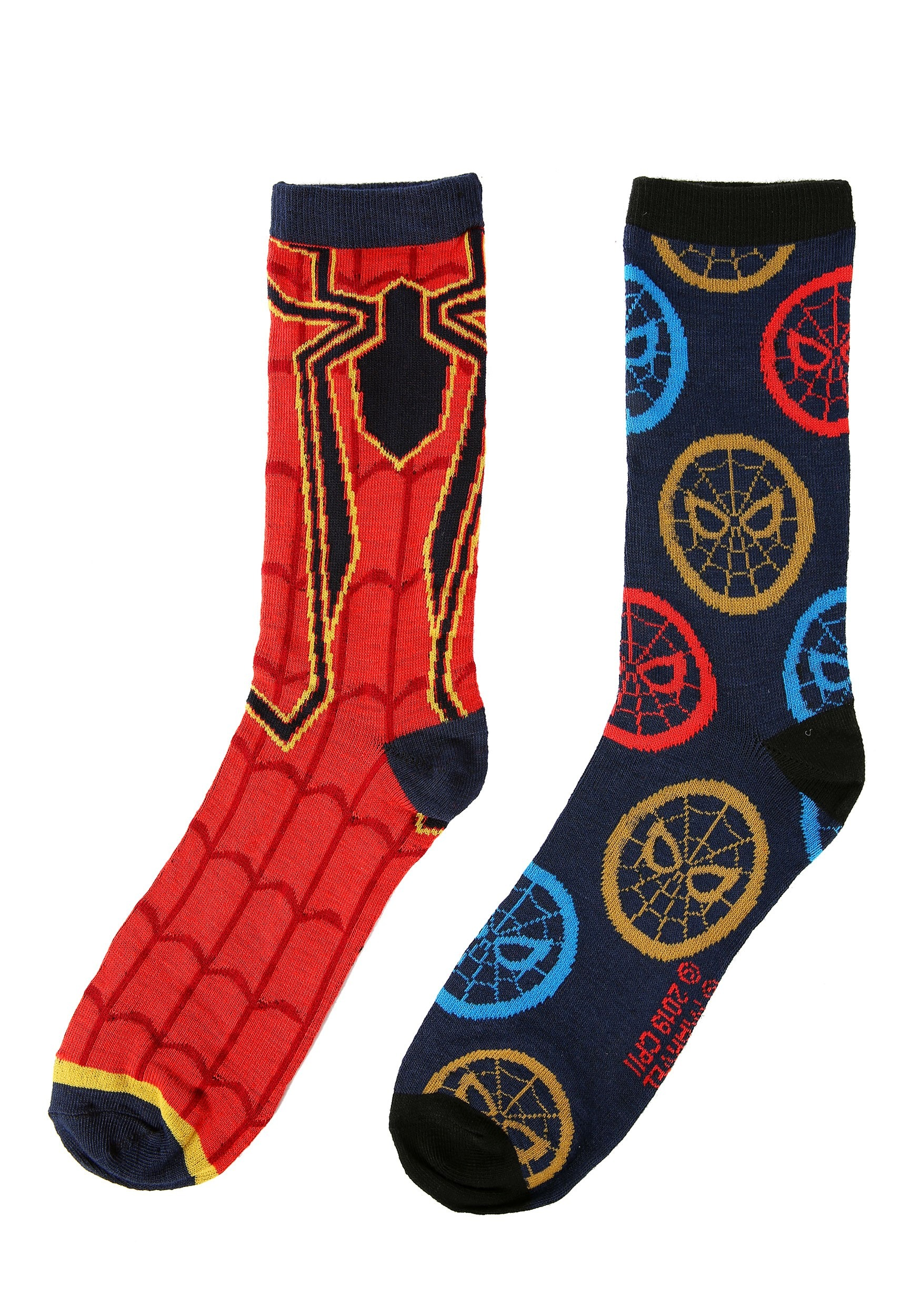 Iron Spider Adult Red/Navy 2-Pack Casual Crew Socks