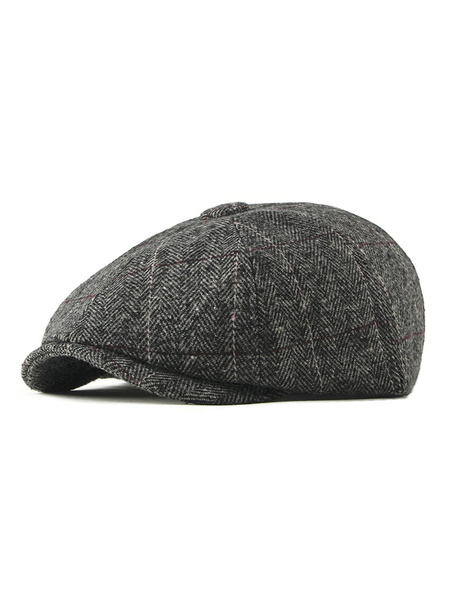 Milanoo Men Flat Cap 1920s Newsboy Ivy Hat Vintage Accessories