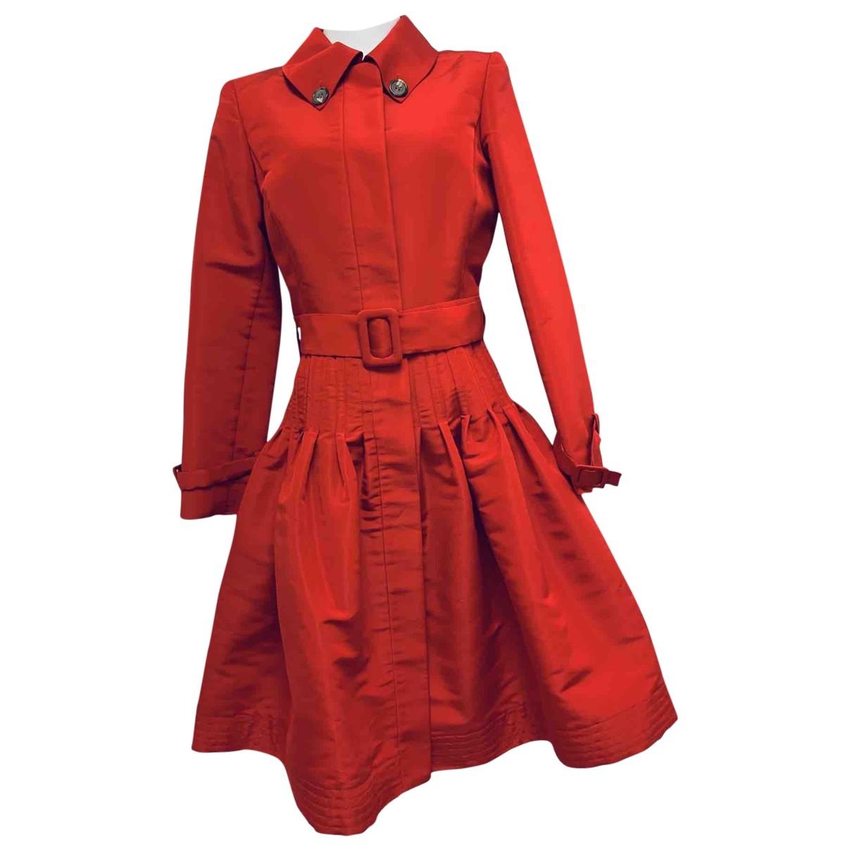 Oscar De La Renta \N Red Silk coat for Women 6 US