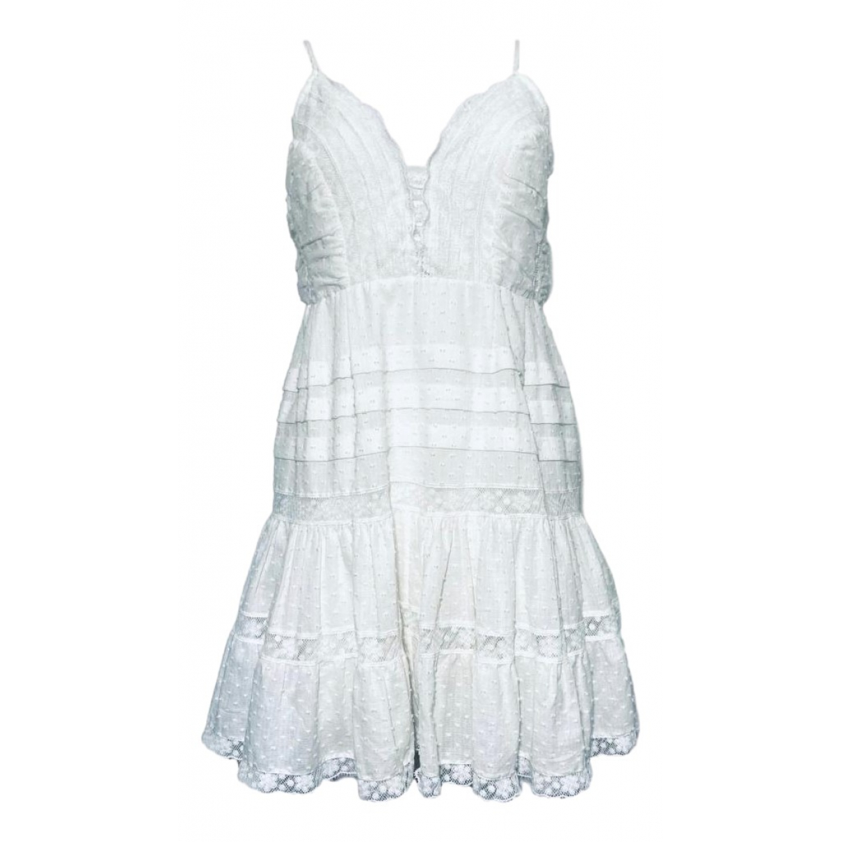 Zimmermann \N White Cotton dress for Women 2 0-5