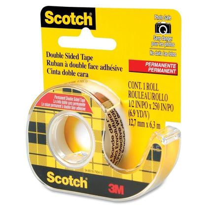 3M Scotch@ 136NA Double-Sided Adhesive Tape -12.7 mm x 6.3 m 473280