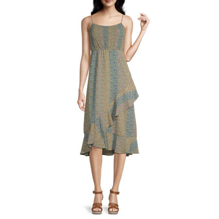 Speechless-Juniors Sleeveless Floral Maxi Dress, X-large , Green