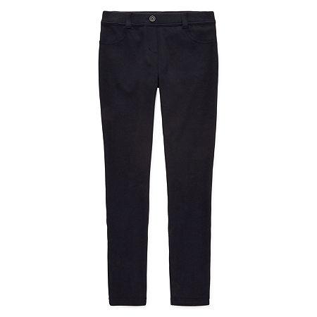 IZOD Stretch Fabric Little & Big Girls Pull-On Pants, 14.5 Plus , Blue