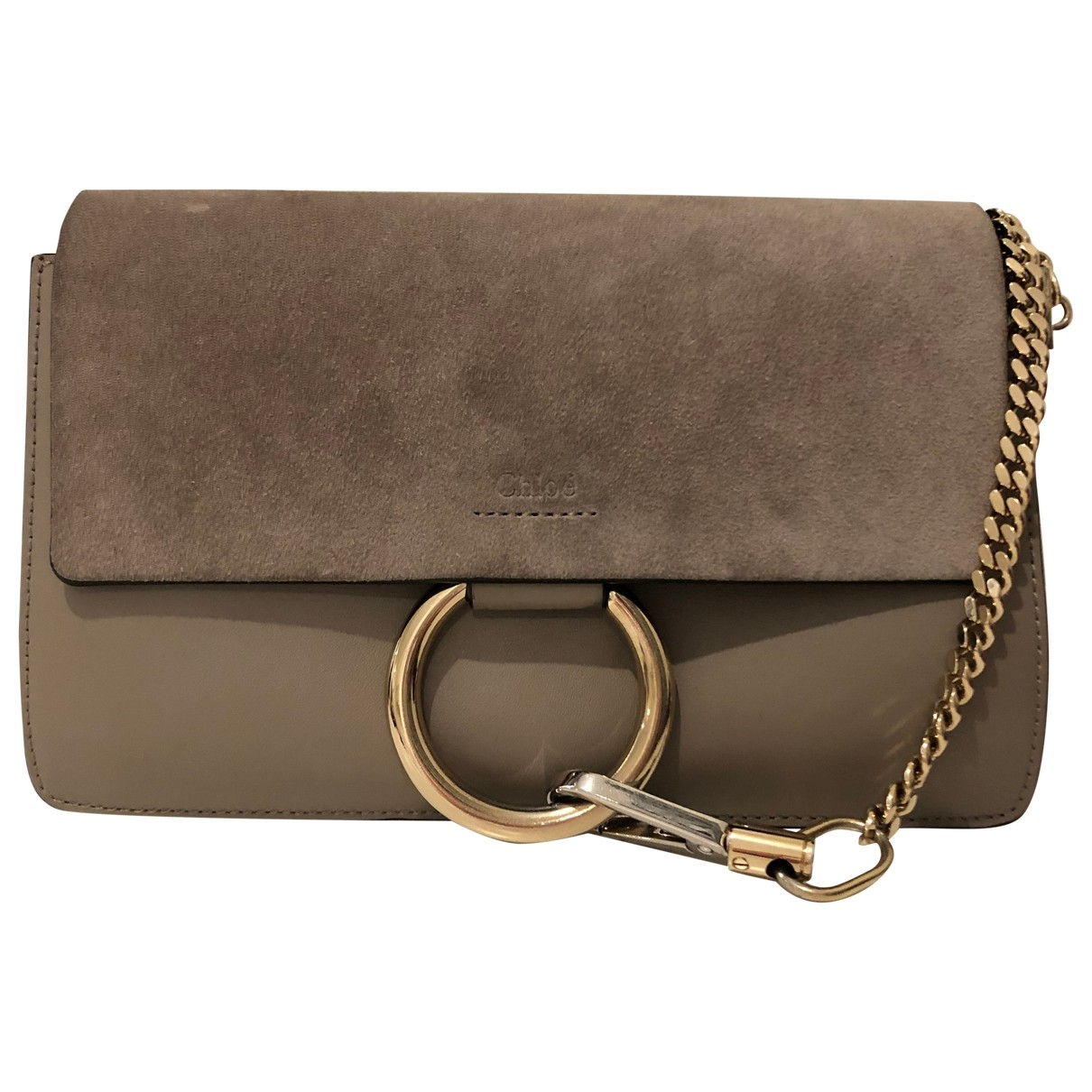 Chloé Faye Grey Leather handbag for Women \N