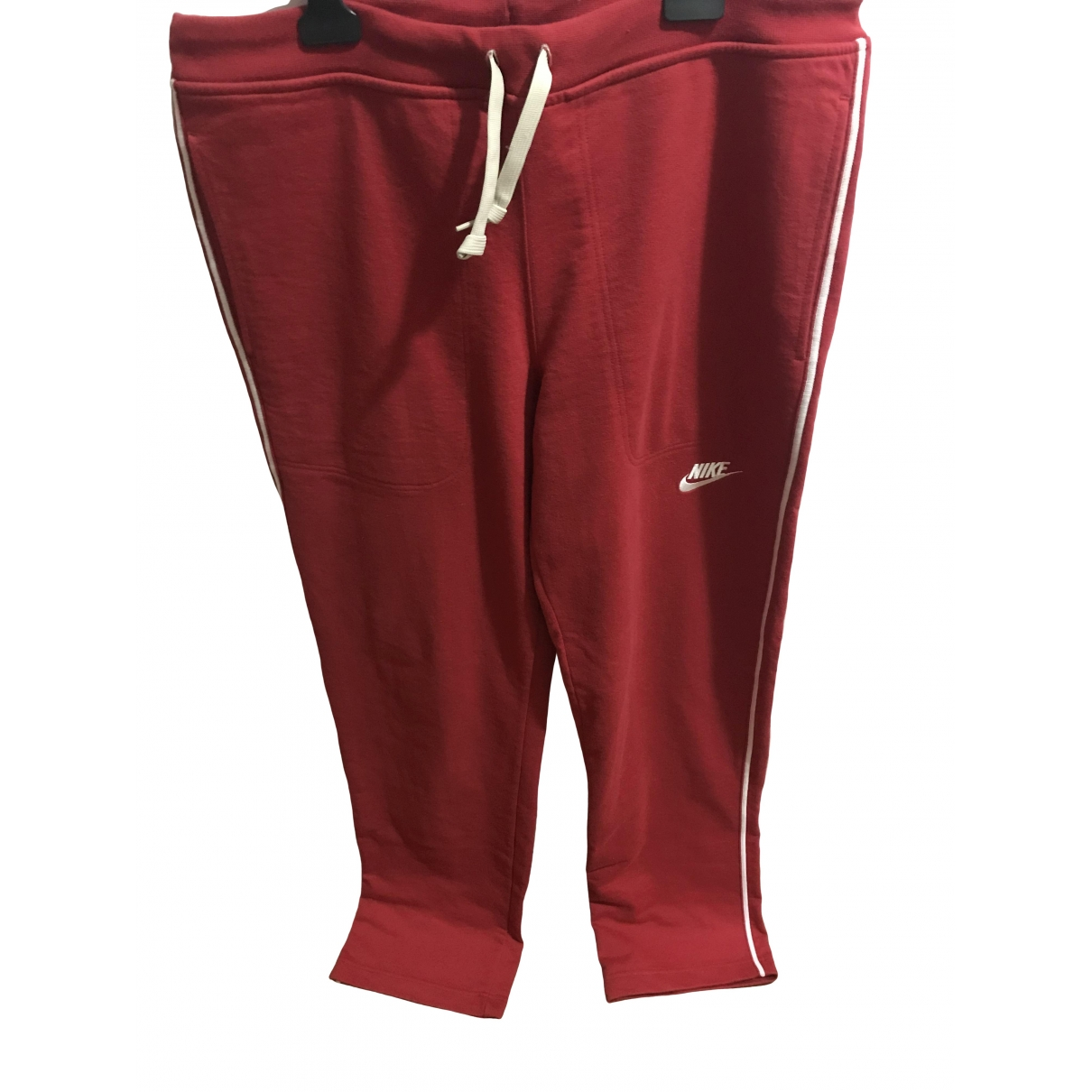 Nike \N Red Cotton Trousers for Men L International