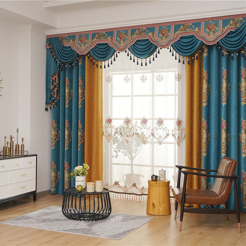 European Ventilate Breathable Custom Living Room Sheer Curtains No Pilling No Fading No off-lining