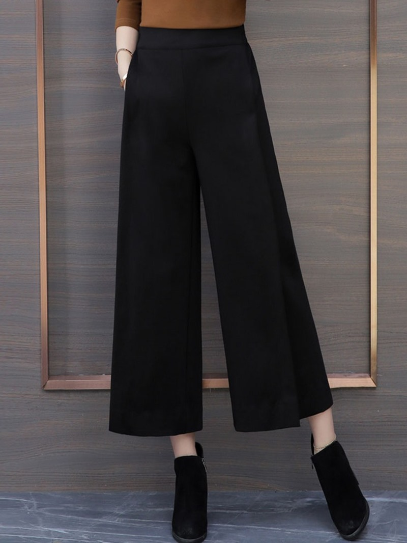 Ericdress Loose Plain Wide Legs Ankle Length Casual Pants