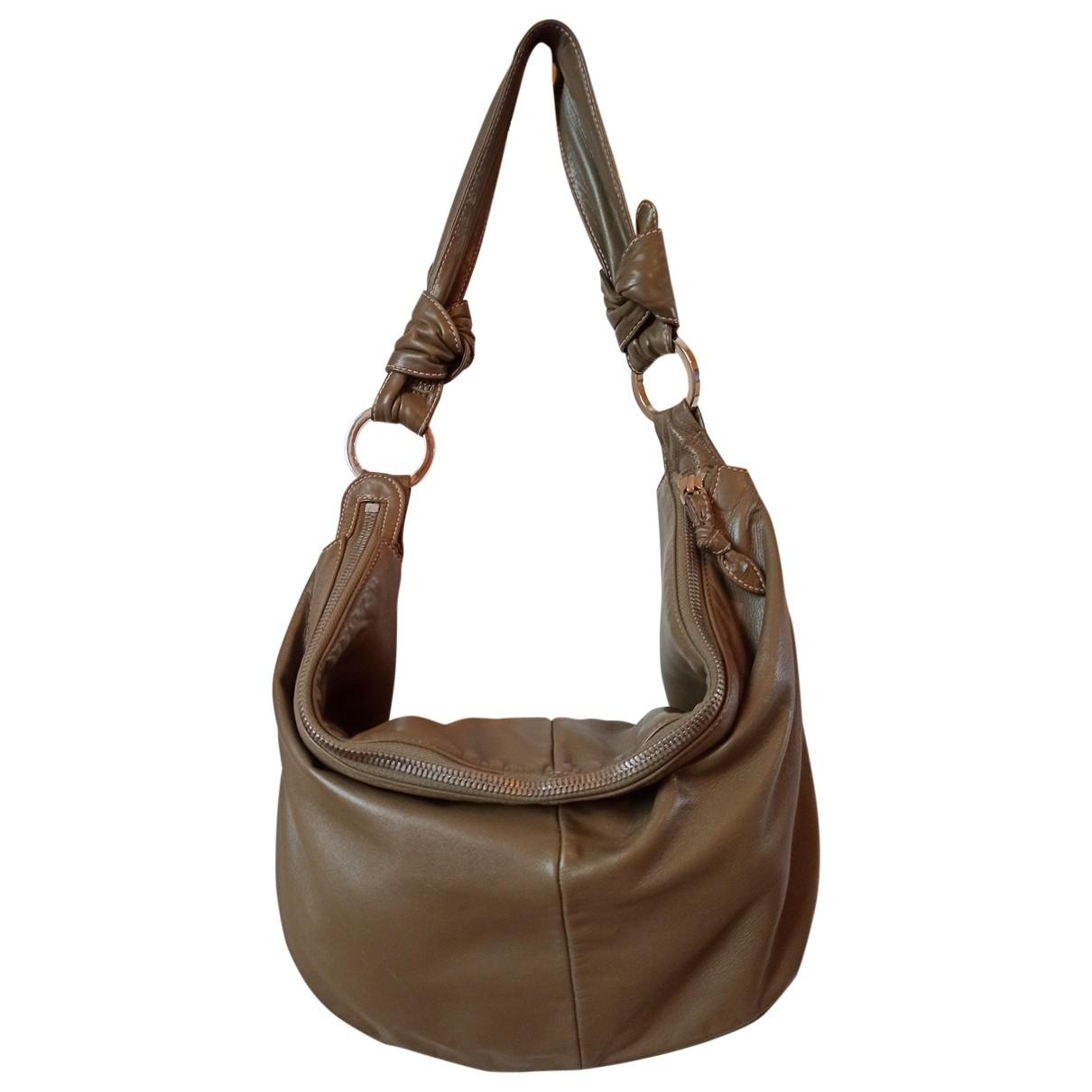 Loewe \N Khaki Leather handbag for Women \N