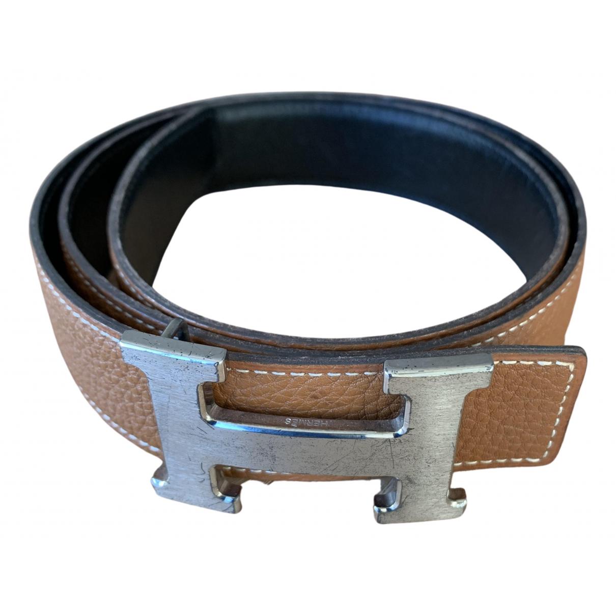 Hermès H Brown Leather belt for Women 85 cm