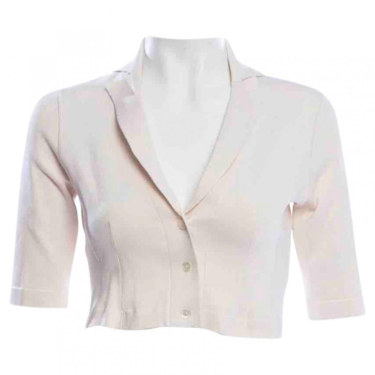 Oscar De La Renta \N White Silk  top for Women XS International
