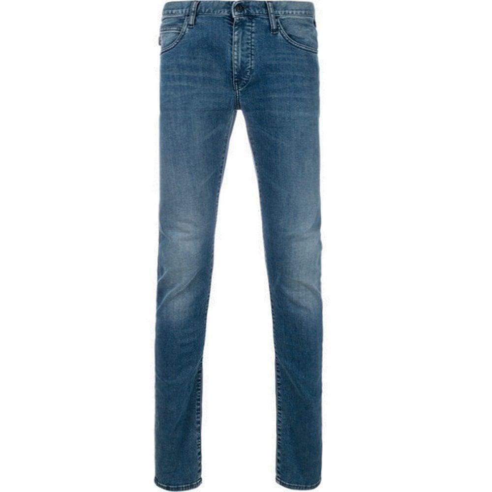 Emporio Armani Slim Fit Jeans Blue Colour: BLUE, Size: 38 34