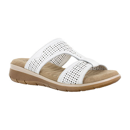 Easy Street Surry Womens Footbed Sandals, 7 Medium, White