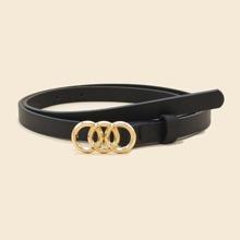 Triple O-ring Buckle Belt