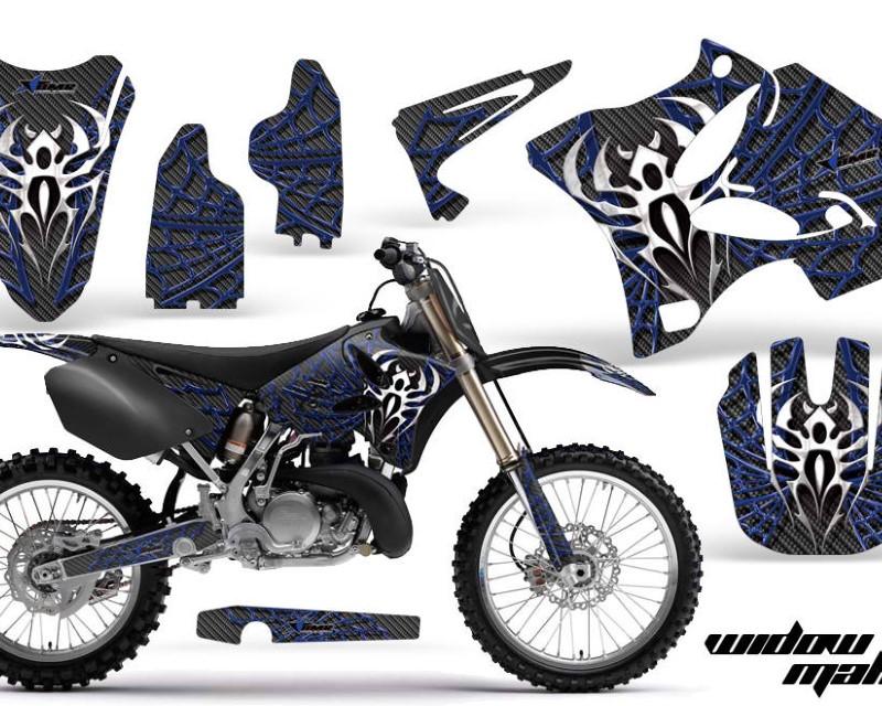 AMR Racing Dirt Bike Graphics Kit Decal Wrap for Yamaha YZ125 YZ250 2002-2014áWIDOW BLUE BLACK