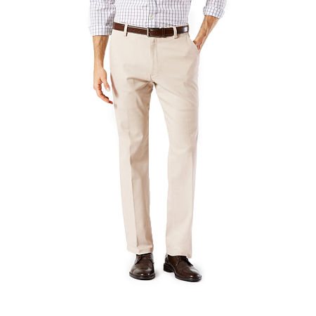 Dockers Men's Straight Fit Easy Khaki with Stretch Pants D2, 36 34, Beige