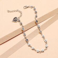 Heart Floral Bracelet