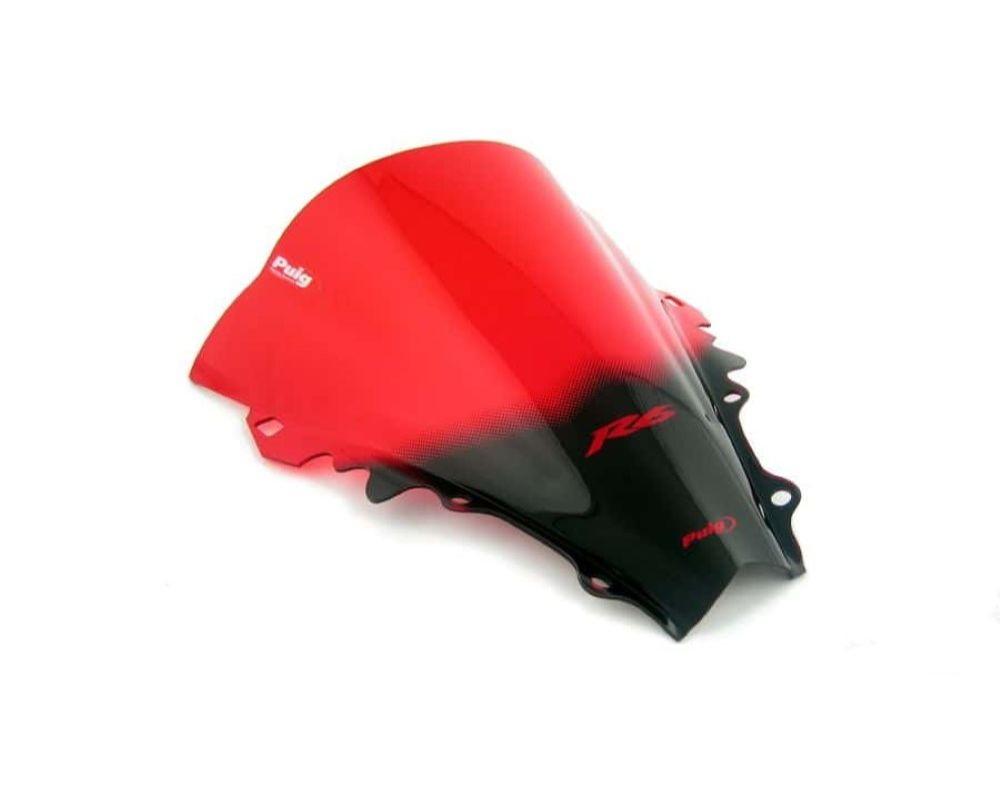 Puig 4059R Racing Windscreen - Red Yamaha YZF-R6 2006