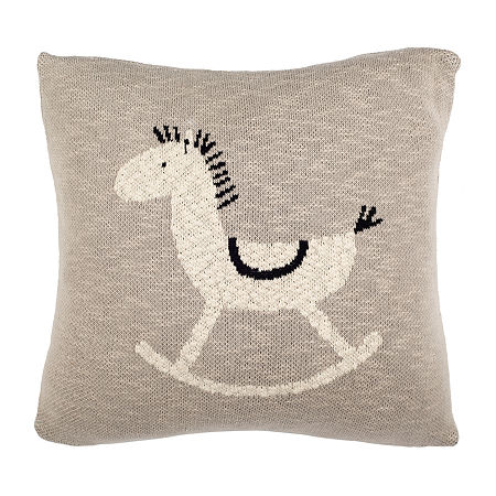 Safavieh Tater Trot Square Throw Pillow, One Size , Gray