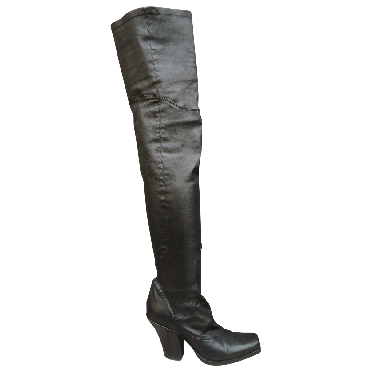 Sartore \N Black Leather Boots for Women 36 EU