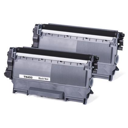 Compatible Brother TN-450 cartouche de toner noire - boite economique - 2/paquet