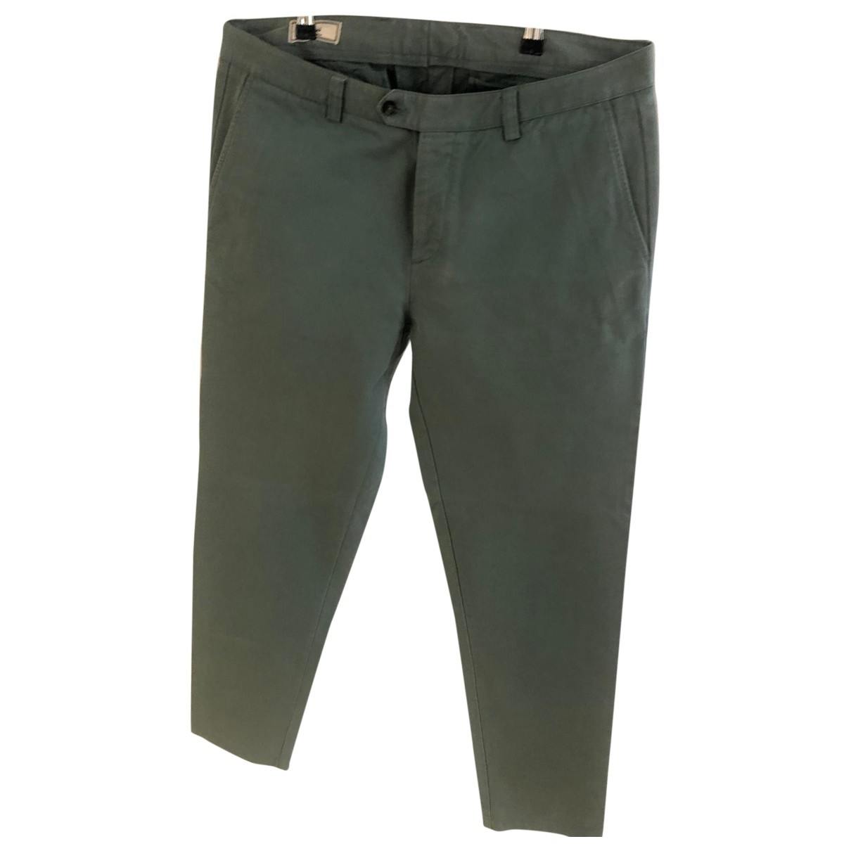 Ami \N Green Cotton Trousers for Men 44 FR