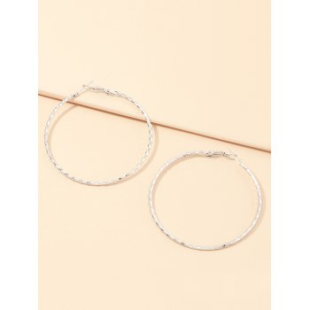 Geometric Alloy Hoop Earrings