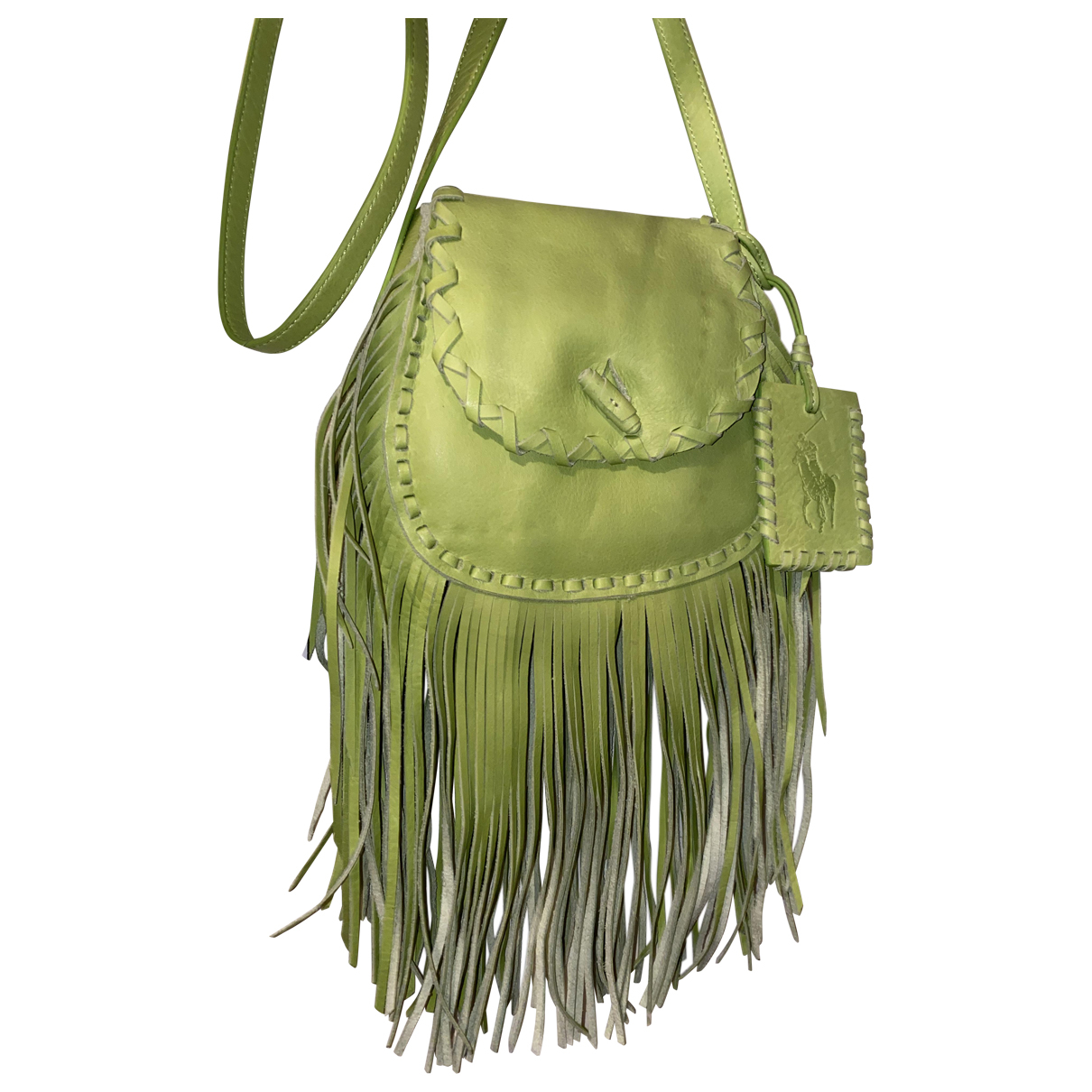 Polo Ralph Lauren \N Green Leather Clutch bag for Women \N