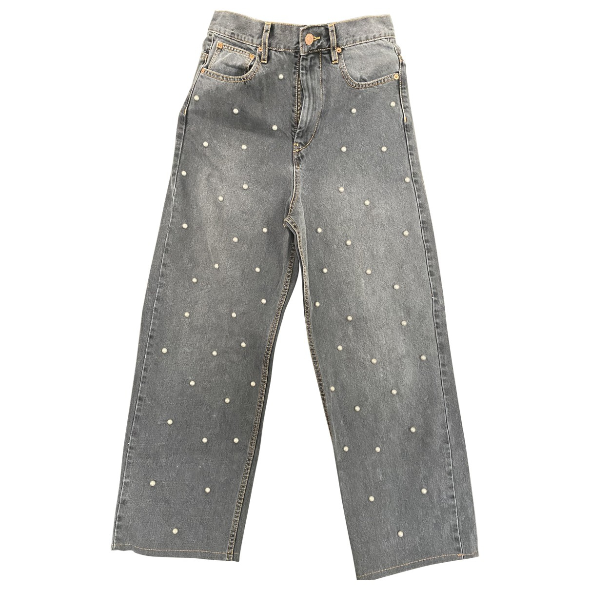 Isabel Marant Etoile \N Grey Cotton Trousers for Women 34 FR