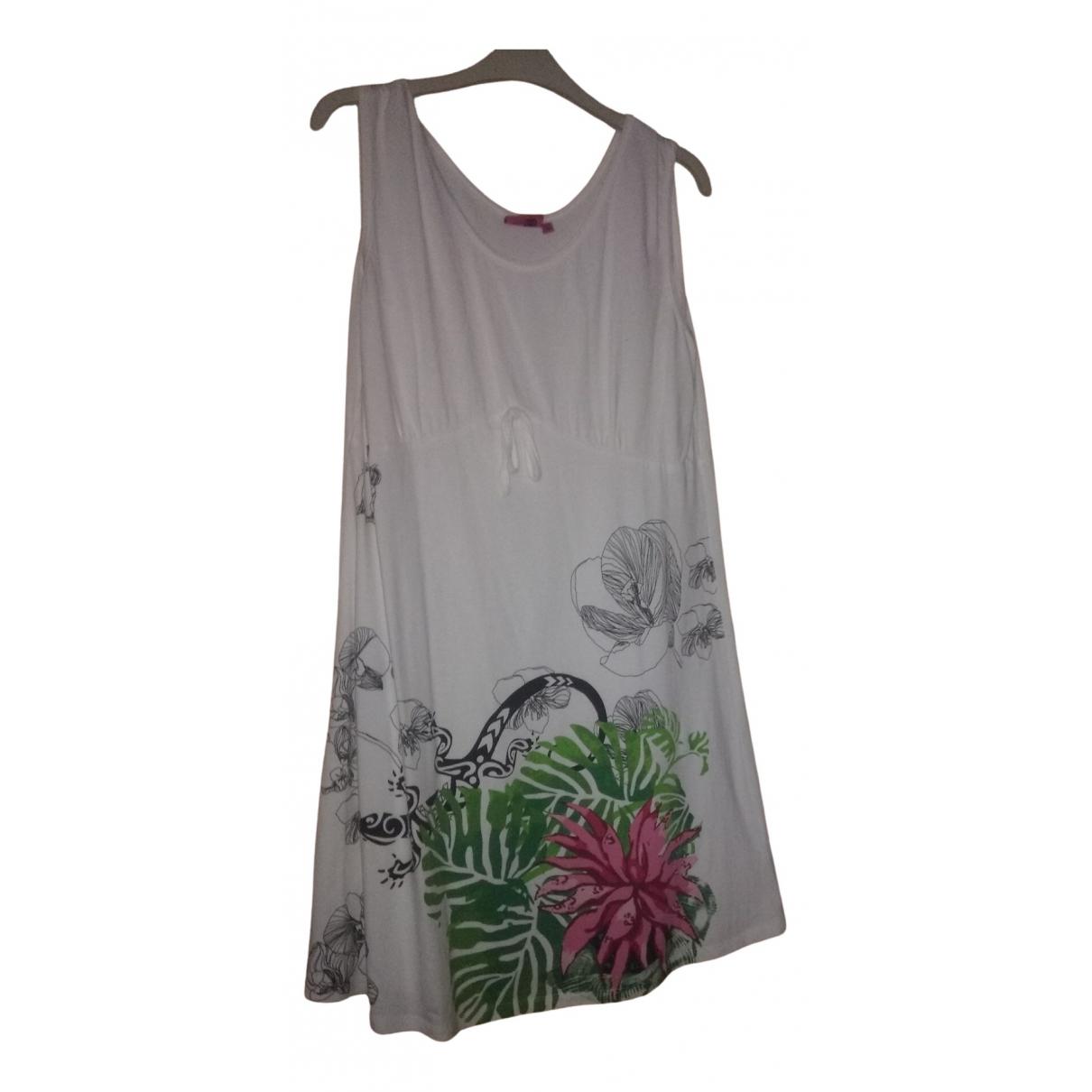 Desigual \N White Cotton dress for Women 46 FR