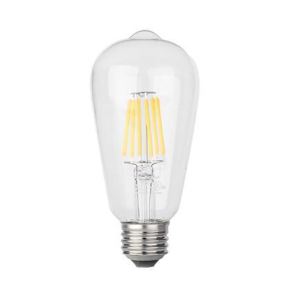 Ampoule DEL de filament ST19 6W équivalent 60W E26 dimmable 2700K 600 Lumens