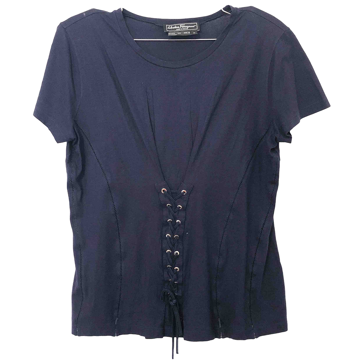 Salvatore Ferragamo \N Blue Cotton  top for Women M International