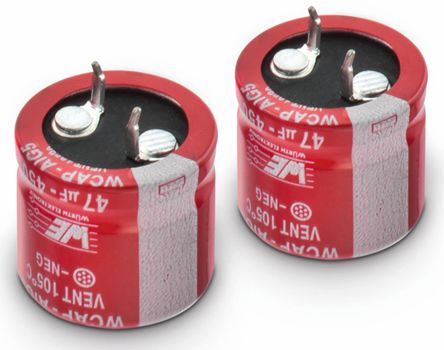 Wurth Elektronik 220μF Electrolytic Capacitor 450V dc, Through Hole - 861021484017 (2)