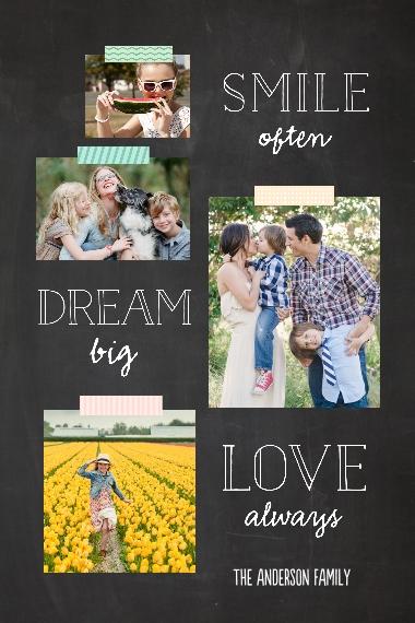 Love 20x30 Poster(s), Board, Home Décor -Smile Dream Love