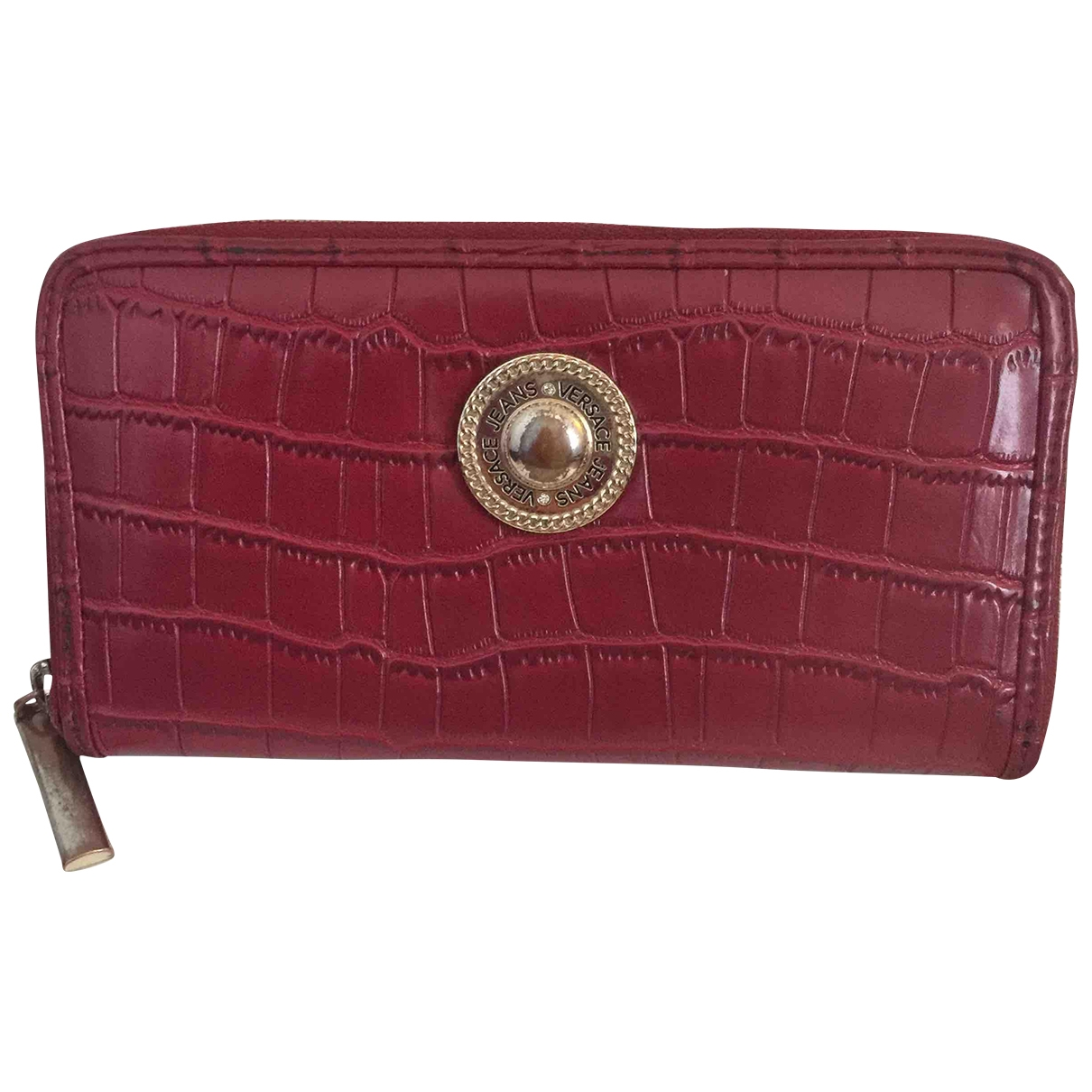 Versace Jeans \N Red Leather wallet for Women \N