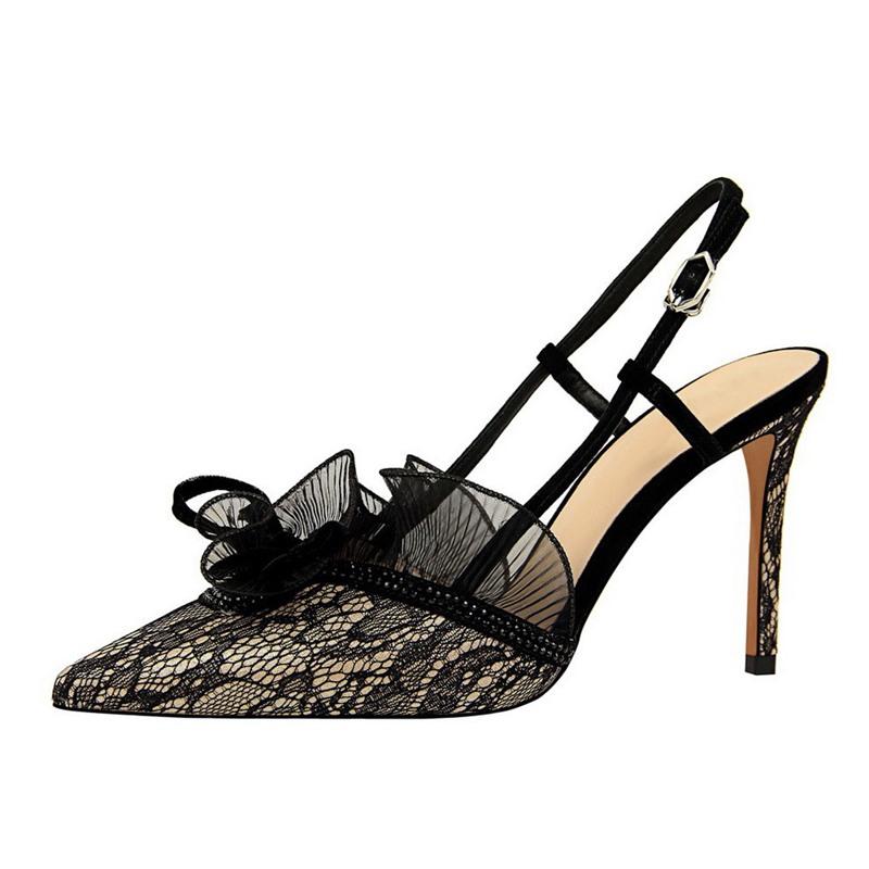 Ericdress Pointed Toe Stiletto Heel Buckle Sandals
