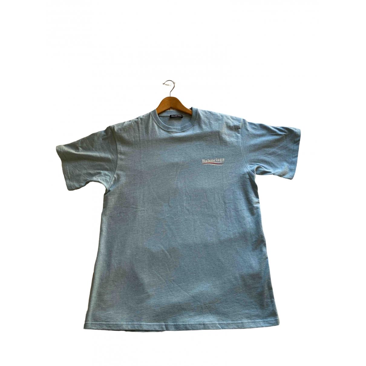 Balenciaga \N Blue Cotton T-shirts for Men XS International